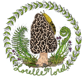 Lorelle Morel Detailed Fern Logo